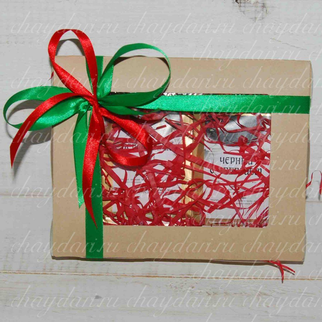 """Коробка с чаем """"Новогоднее тепло"""""""